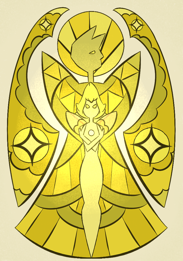 Yellow pearl mural by lilacmilotics on deviantart for Yellow diamond mural