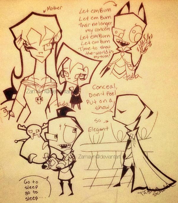 More IZ Doodles by Zamayn
