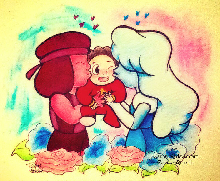 Why did I do this. Someone please help me. I can't stop drawing baby Steven. Original Tumblr post - zamayn.tumblr.com/post/1212671… Steven Universe (c) Rebecca Sugar Art (c) Zamayn