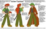 Adam Packbell Model Sheet by davidfoxfire