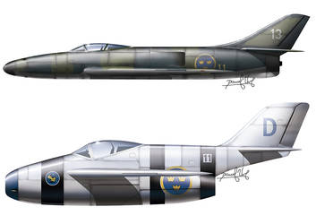 Me P1110 and Focke Wulf II straight back