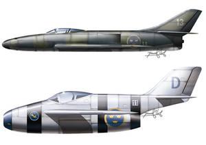 Me P1110 and Focke Wulf II straight back