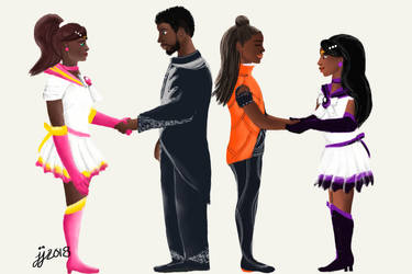 When Heroes Meet part I by CaribbeanRose9