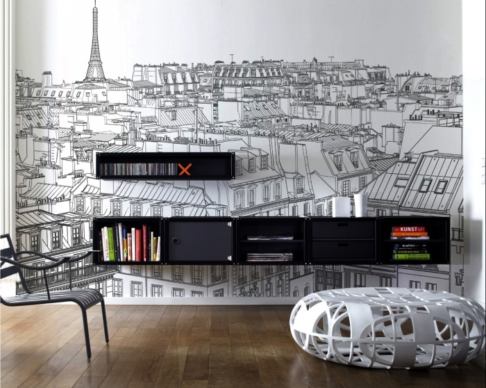 Paris wall mural by pixersize
