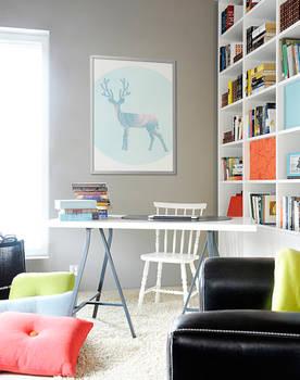Blue Deer - Poster by PIXERS