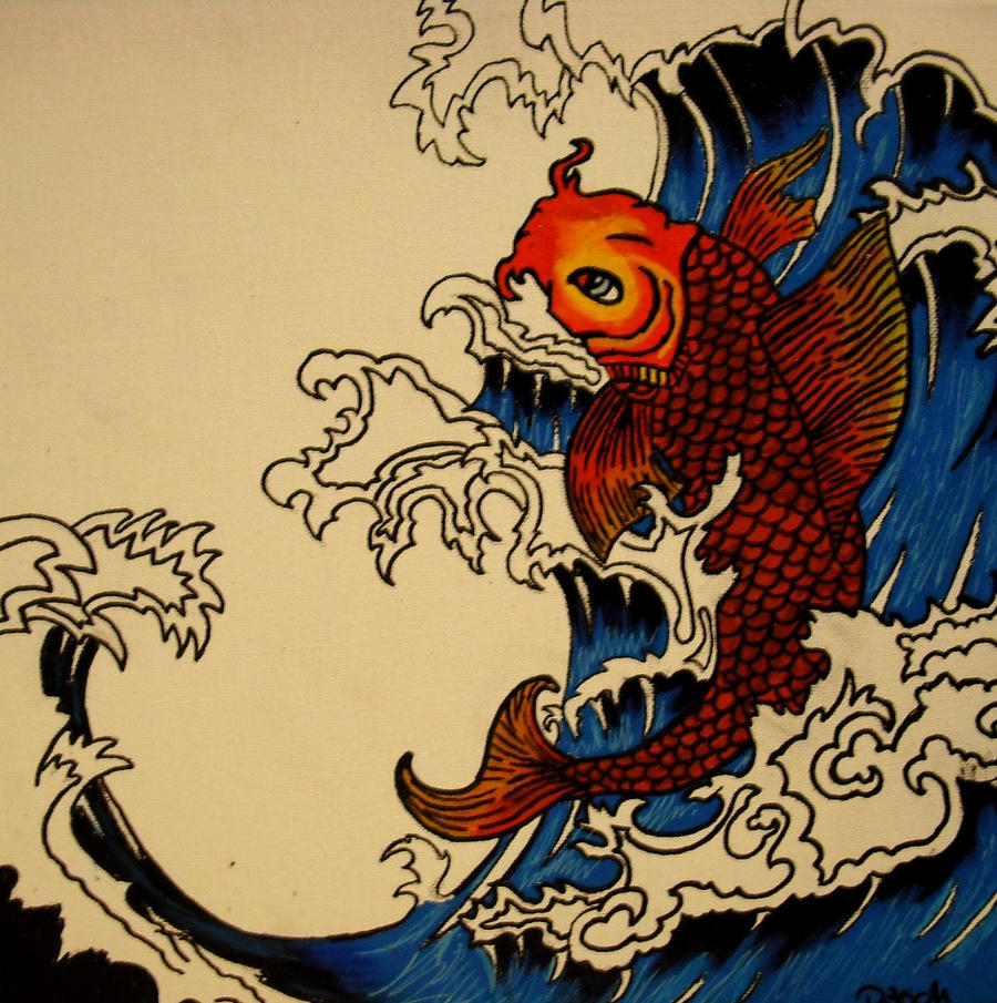 Koi fish by an h3r0 on deviantart for Koi fish artwork