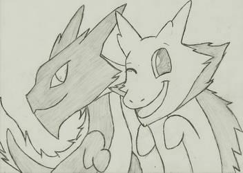 Dragon Bros Ebby and Silvvy by captainspadevatore