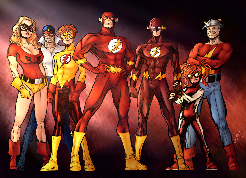 Flash family wallpaper