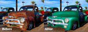 Old Car Retouching Before After