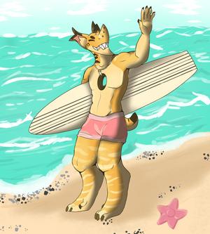 Daiten summer event, Prompt: Beach Fun