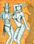 Zatanna and Vampirella Statues