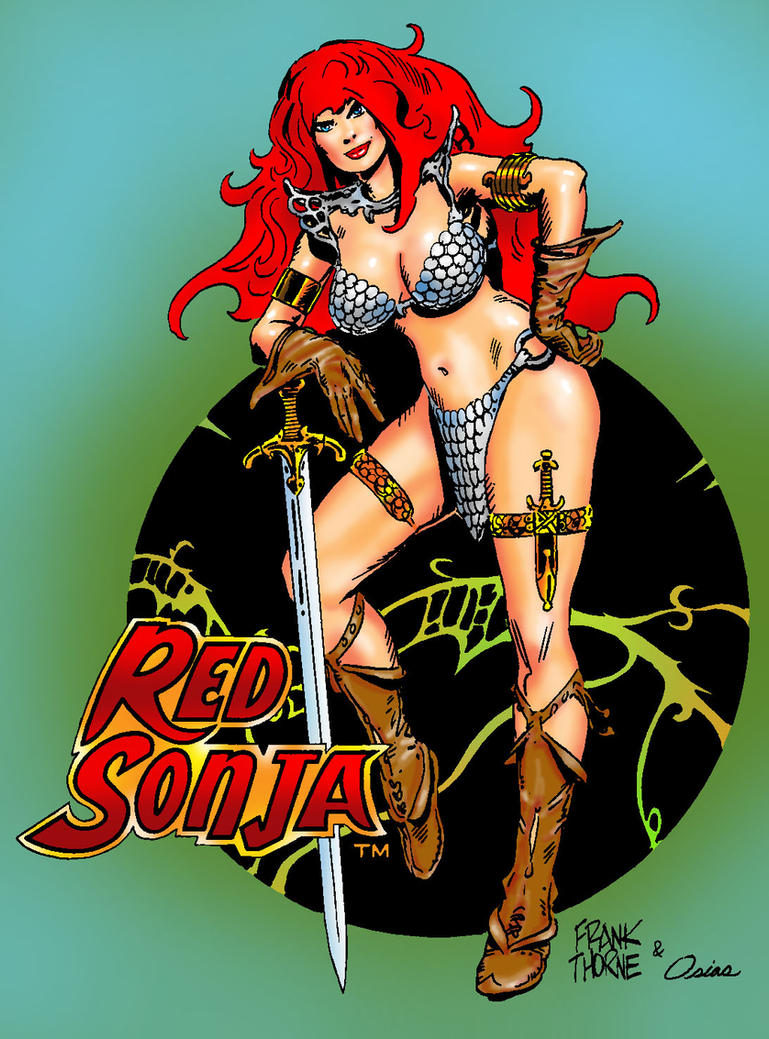 Red Sonja color by Xenomorph71