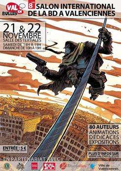 VAL EN BULLES French poster - Six Gun Gorilla