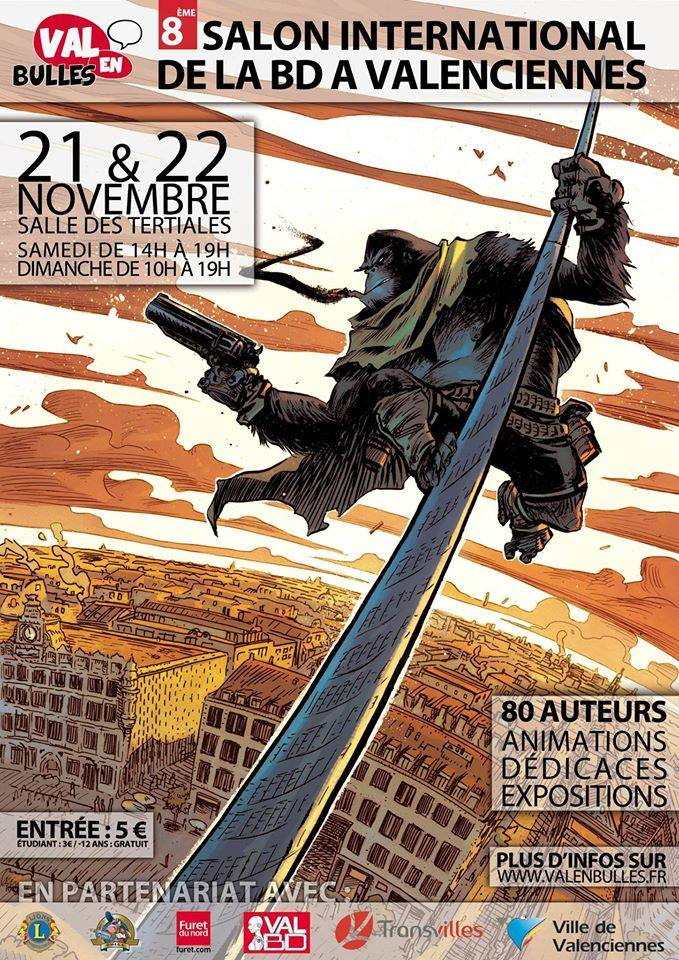 VAL EN BULLES French poster - Six Gun Gorilla by JeffStokely
