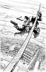VAL EN BULLES French poster - Six Gun Gorilla INK