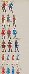 TF2 female designs v.2 by ChemicalAlia