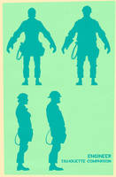 Engineer silhouettes by ChemicalAlia