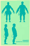 Engineer silhouettes