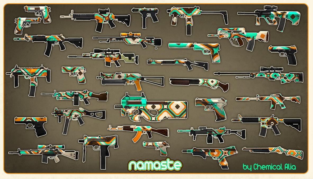 CS:GO Custom Weapon Finishes By ChemicalAlia On