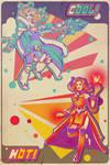 Retro 80's Crystal Maiden / Lina poster