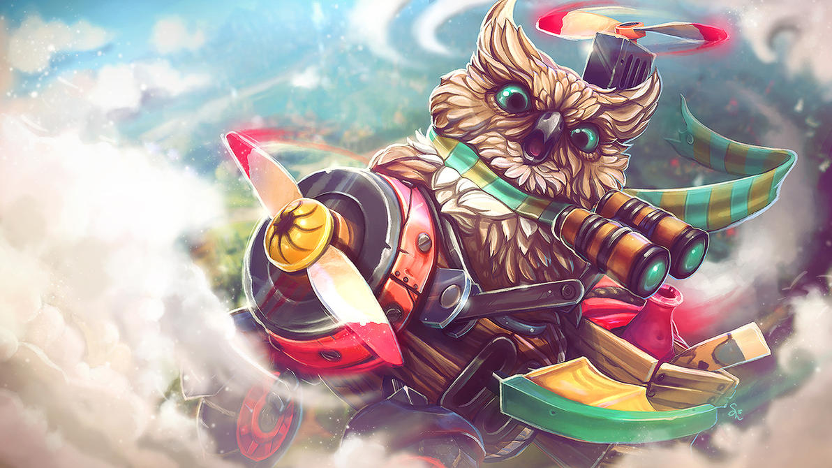 Grumble the Gyro Owl by ChemicalAlia