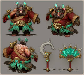 Dota 2 | Zhong Kui Pudge set sculpt