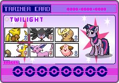Twilight Sparkle Trainer card by SeaAndSunshine
