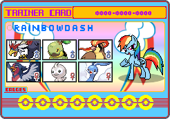 Rainbow Dash trainer card by SeaAndSunshine
