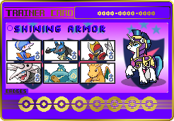 Shining Armor Trainer Card by SeaAndSunshine