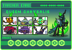 Queen Chrysalis Trainer Card by SeaAndSunshine