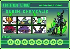 Queen Chrysalis Trainer Card