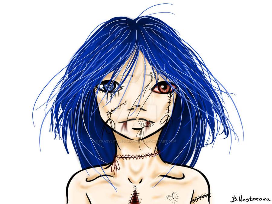 Blue like tears by CrazyLittleBlakcWolf