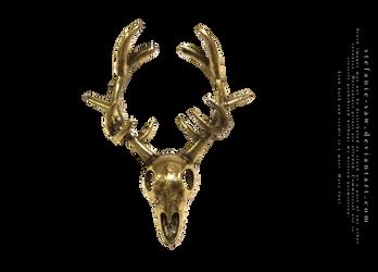 Golden Stag Skull