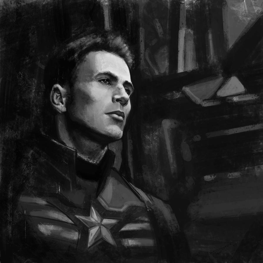 Chris Evans Captain America by FrostDFr
