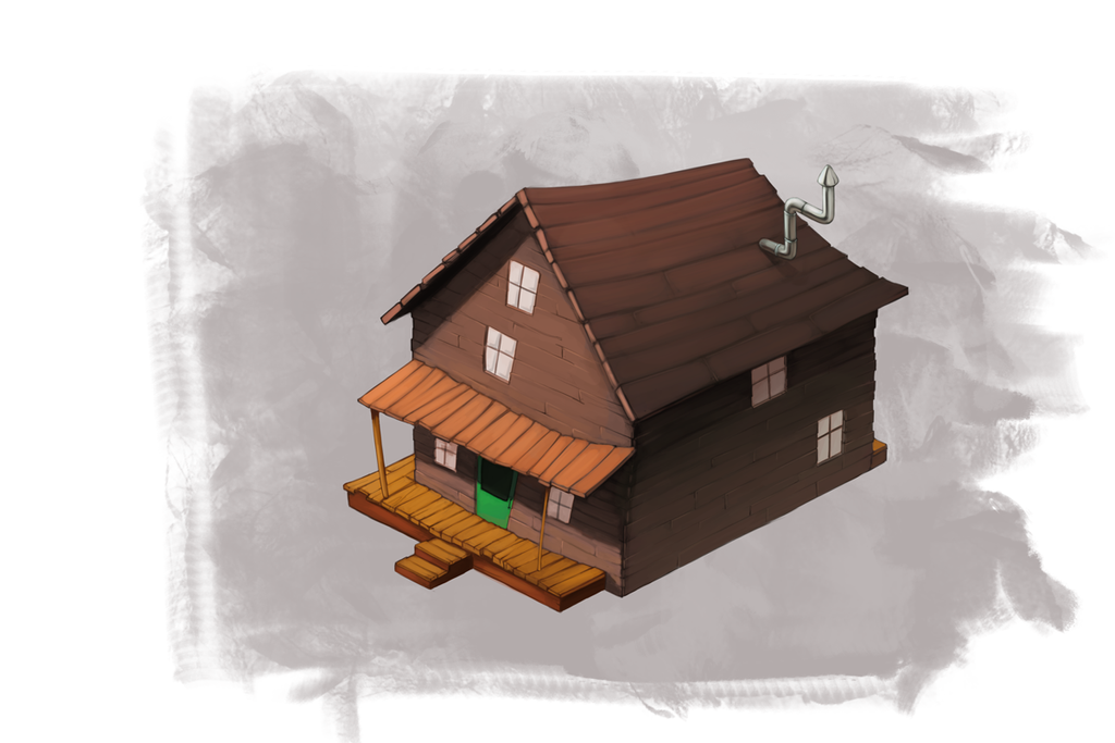 Courage house isometry by FrostDFr