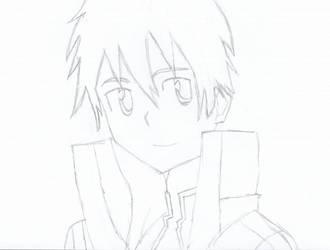 SAO Kirito Pencil Drawing by DrNeon-Aidan