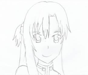 SAO Asuna Pencil Drawing by DrNeon-Aidan