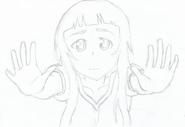 SAO Yui Pencil Drawing by DrNeon-Aidan