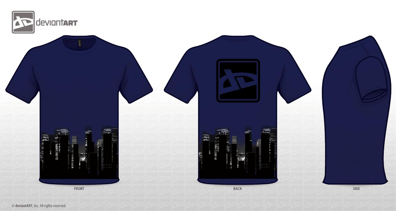 Deviant Tshirt logo designnavy by RedeyeTrickmaster