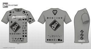 Deviant Tshirt logo designgrey by RedeyeTrickmaster