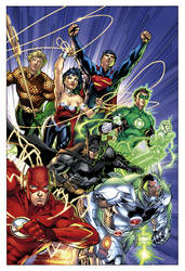 nu52 Justice League by sinccolor