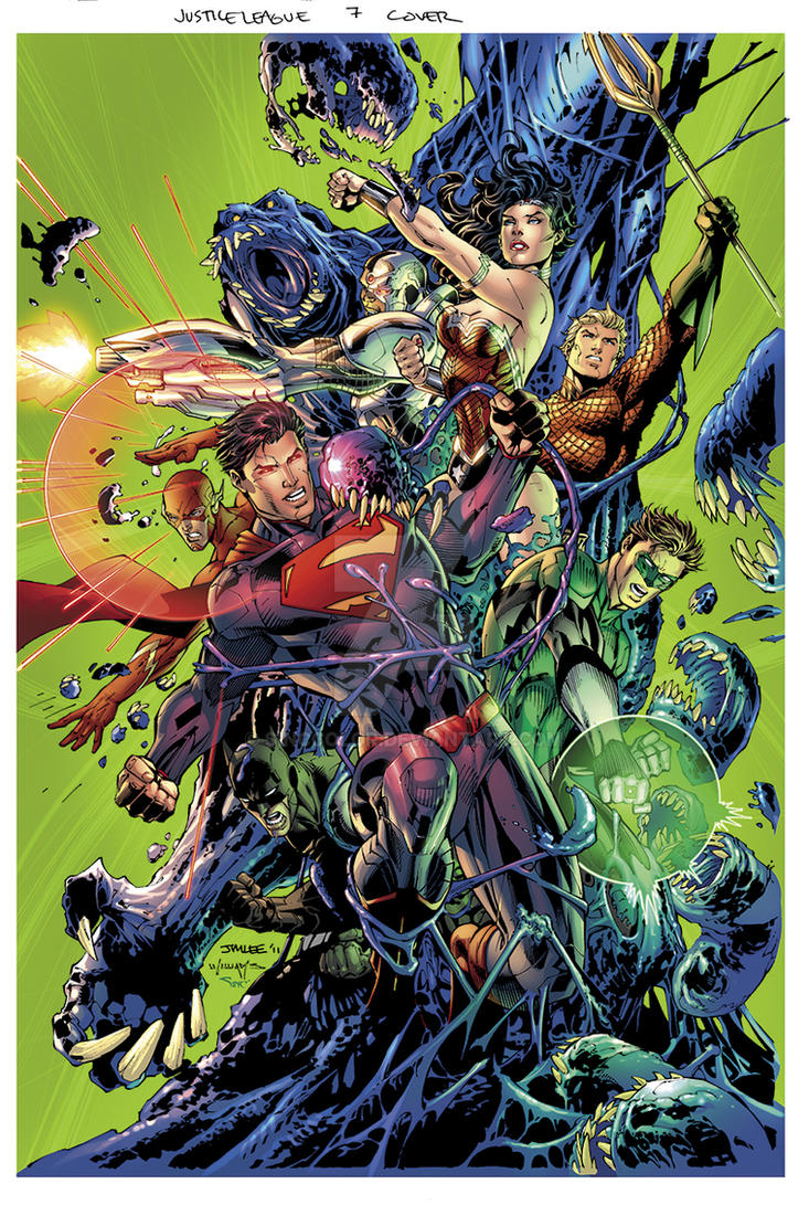 Justice League No.7 Cover by sinccolor
