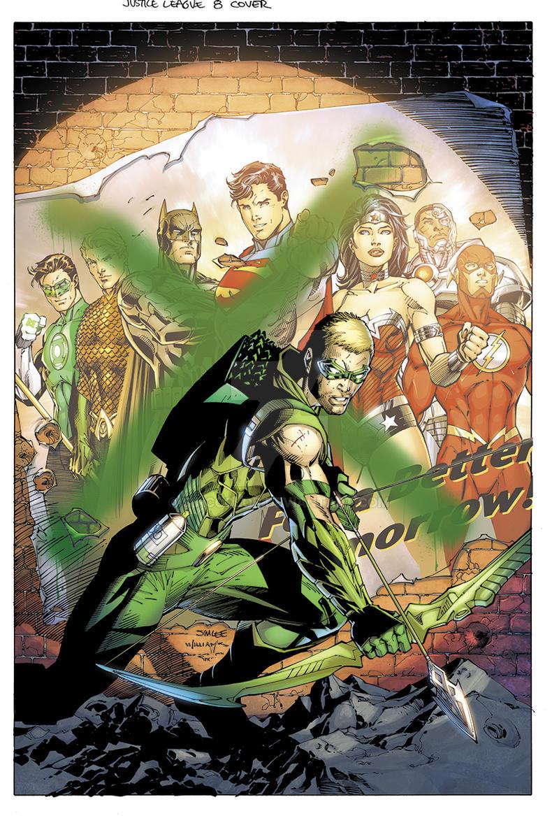 Justice League No.8 Cover by sinccolor