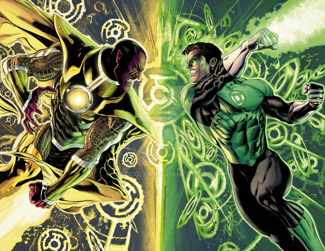 Green Lantern #20, pgs 42-43 by sinccolor