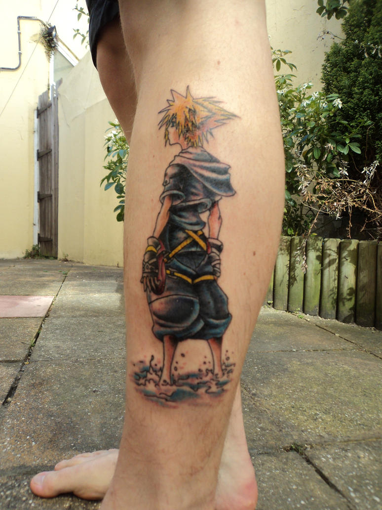 sora kingdom hearts tattoo by plastic anime on deviantart