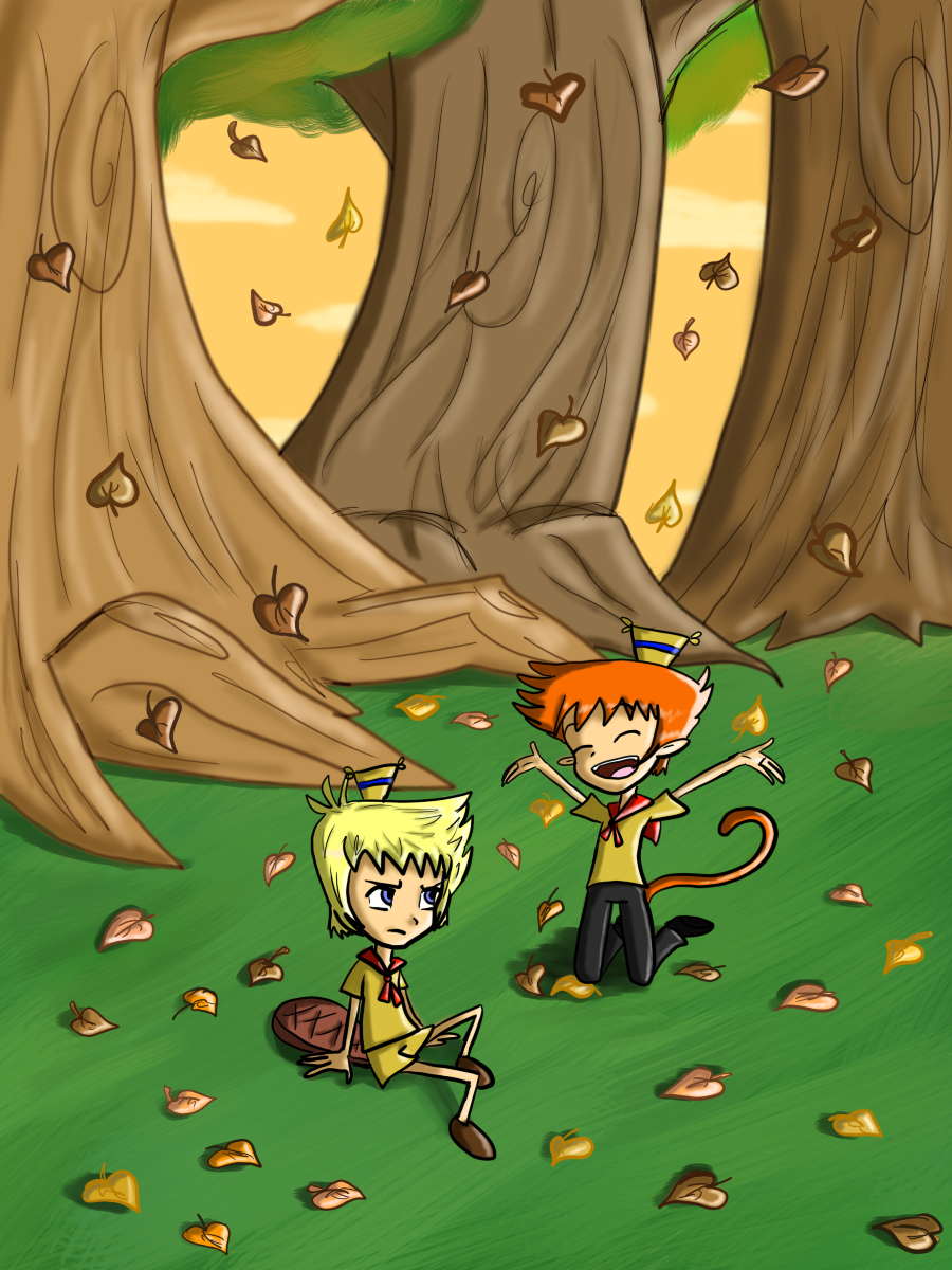 Lazlo_and_Edward_Autumn by Myen-Nyan
