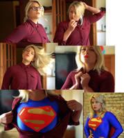 Supergirl Transformation Collage