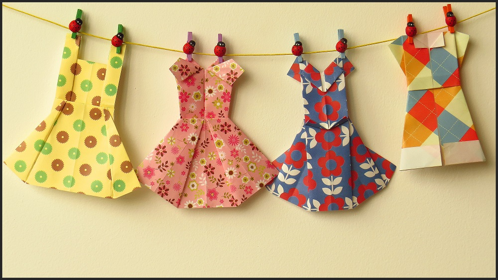Origami Dresses by BlueTF