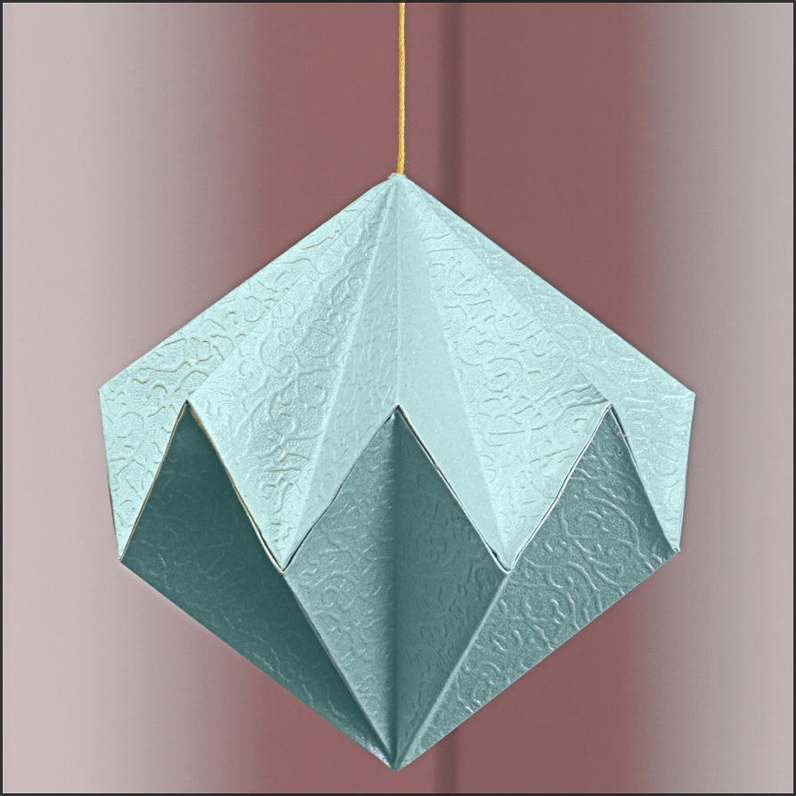 origami diamond by bluetf on deviantart