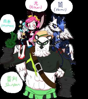 COMM: Momoe, Hikari,Yami, Shinpan